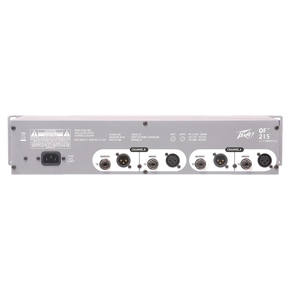 2-канальный 15-полосный эквалайзер Peavey QF 215