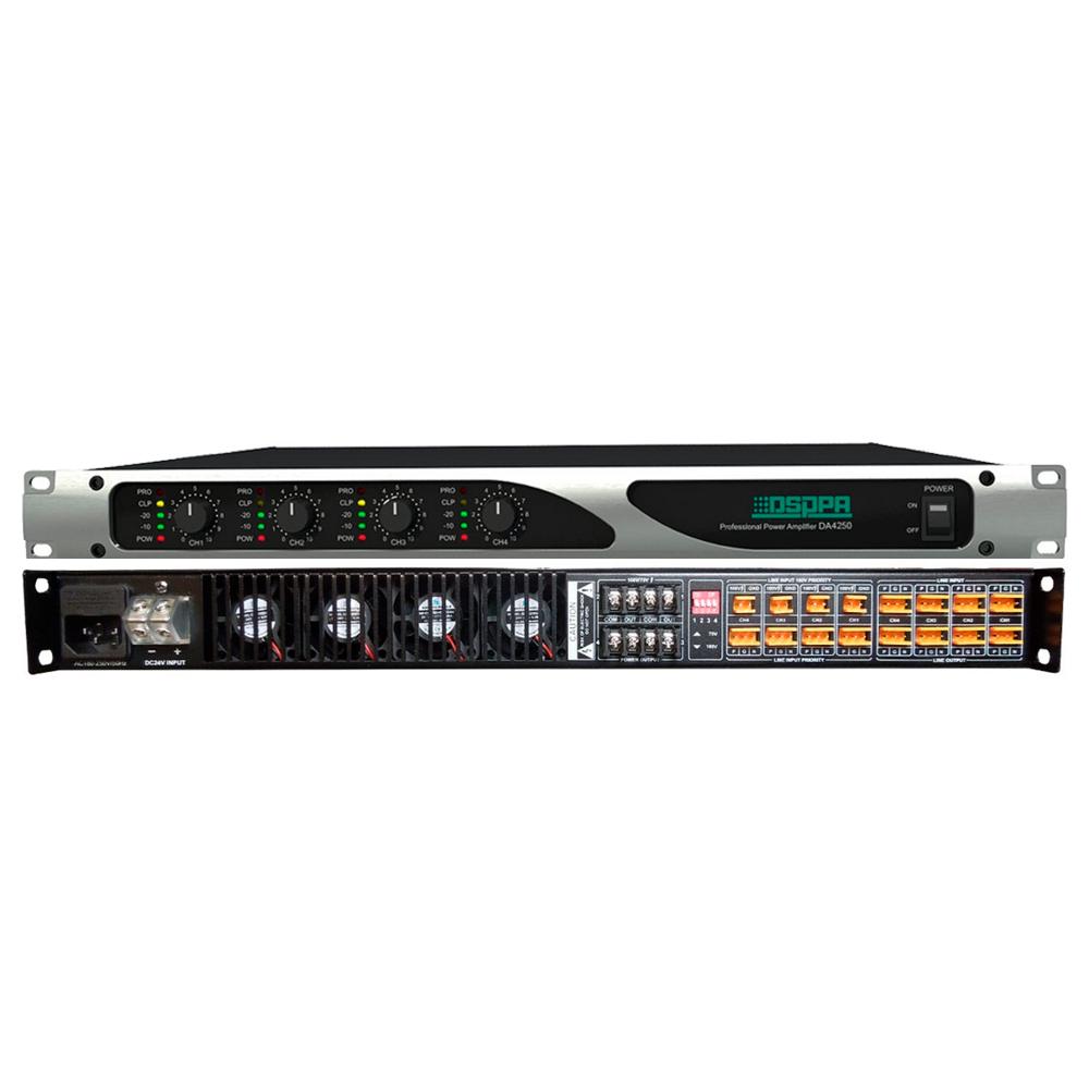 Цифровой 4-канальный усилитель мощности DSPPA DA4250