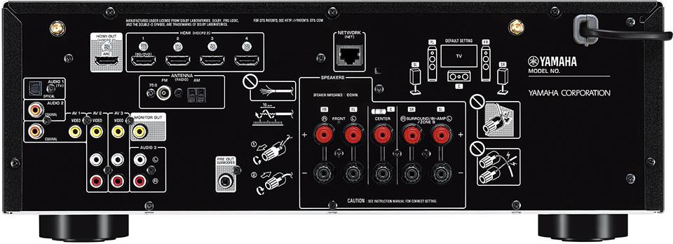 AV ресивер Yamaha RX-V485 BLACK