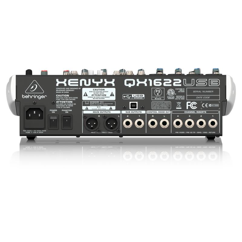 Микшерный пульт Behringer XENYX QX1622USB